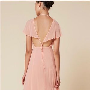 Reformation Avery maxi dress. Sz 6.  Pale pink